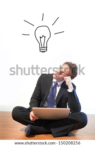 businessman waiting for new idea