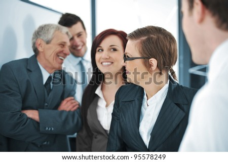 businessmen and women - stock photo