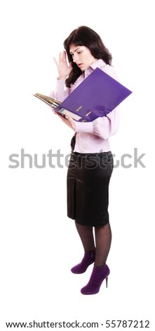 businesswoman isolated on white
