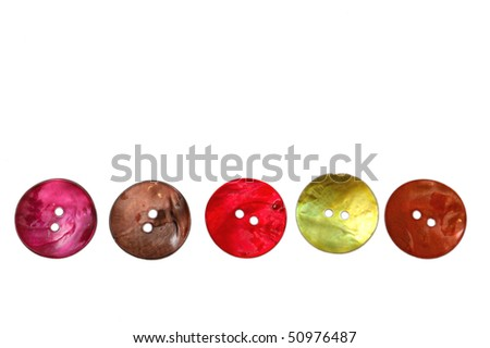 buttons isolated - stock photo