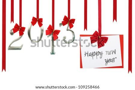 2013 calendar. New year card - stock photo