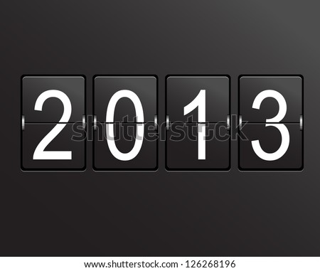 2013 calendar on mechanical panel. - stock photo