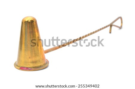 candle snuffer - stock photo