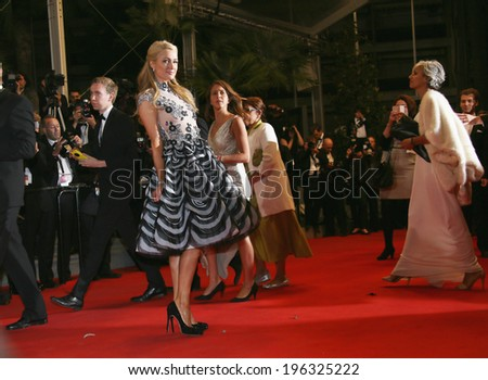 CANNES, FRANCE - MAY 18: Paris Hilton  attends 'The Rover' premiere during the 67th Annual Cannes Film Festival on May 18, 2014 in Cannes, France - stock photo