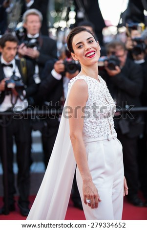 Cansu Dere attends the 'Inside Out' Premiere during the 68th annual Cannes Film Festival on May 18, 2015 in Cannes, France. - stock photo