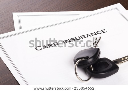 Car Insurance Policy - stock photo