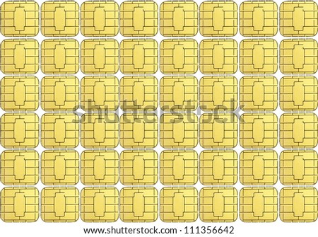 card chip background - stock photo