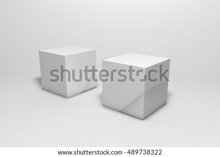 cardboard boxes template packaging design 3 d stock illustration