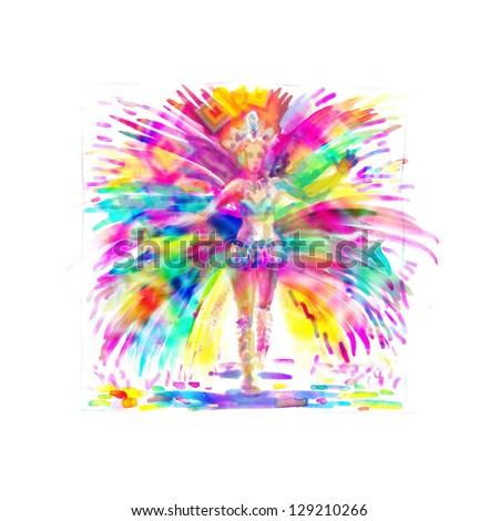 Carnival Girl - stock photo