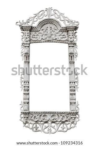 Carved window frame - stock photo