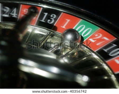 Casino roulette, zero zero wins - stock photo