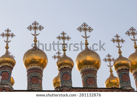 Cathedral and The Archangel in Moscow Kremlin. - stock photo