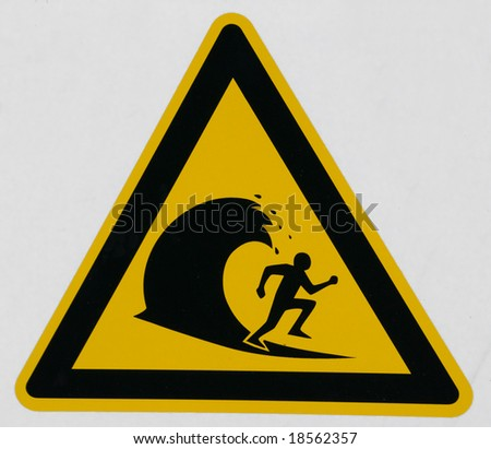 caution label - stock photo