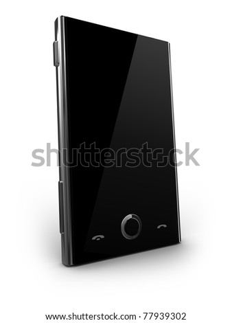 Cellphone - own custom design - stock photo