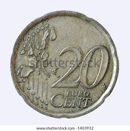 20 cents - stock photo