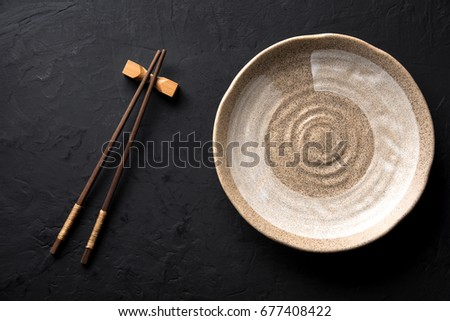 dark bamboo plates chopsticks stock images royalty free images vectors shutterstock