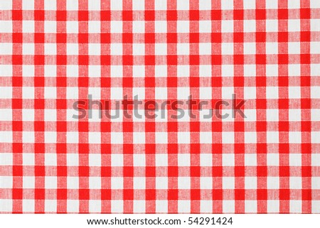 checkered tablecloth - stock photo