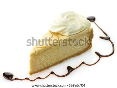 cheesecake slice - stock photo