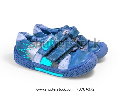 children's shoes isolated