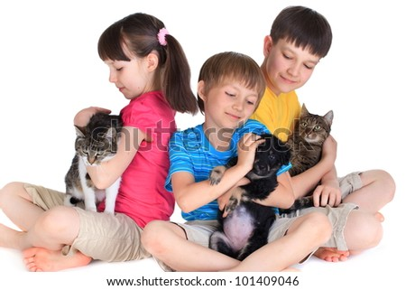 Children with pets