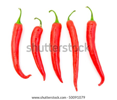 Chili pepper isolated on white background - stock photo