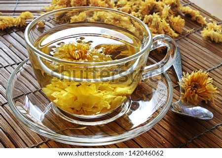 Chinese Chrysanthemum Flower Tea - stock photo