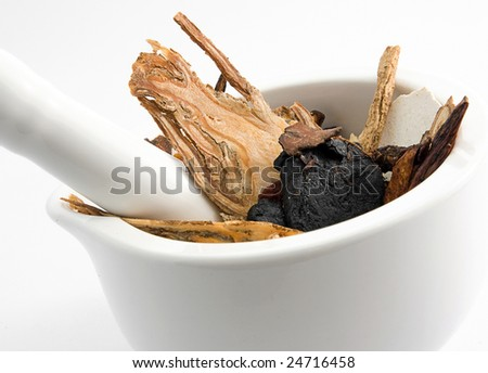 Chinese  medicine mix - stock photo