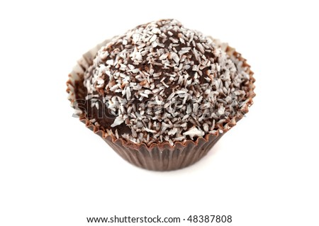 Chocolate Muffin with Coconut Chips