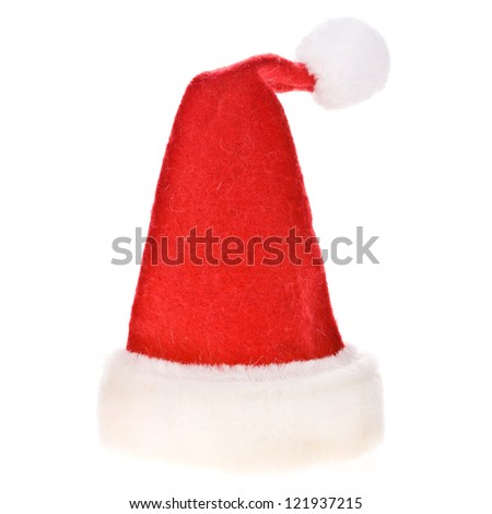 Christmas Santa Claus hat isolated on white background