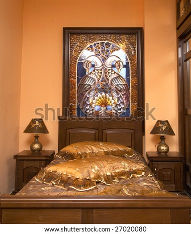classic bedroom furniture - stock photo