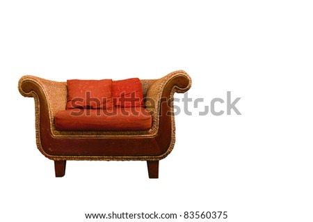 classic sofa isolated - stock photo