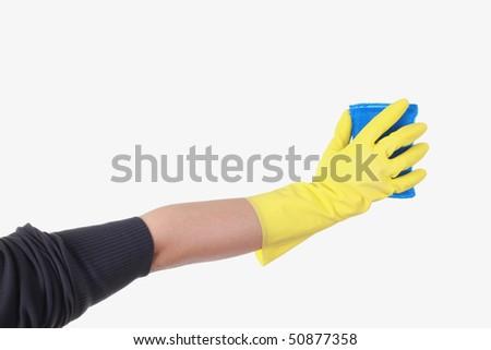 cleaning sponge - stock photo