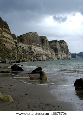 Close to Cape Kidnappers - stock photo