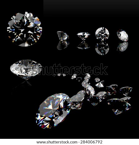 Close-up Diamonds. Jewelry Background