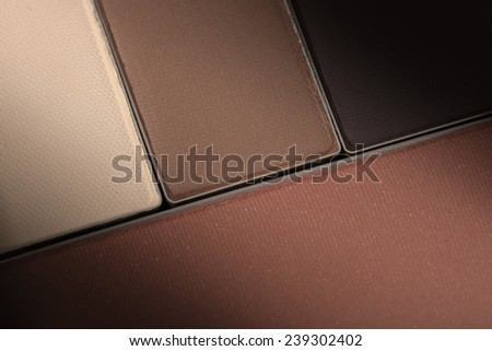 close up Make up palette of colorful eyeshadow - stock photo