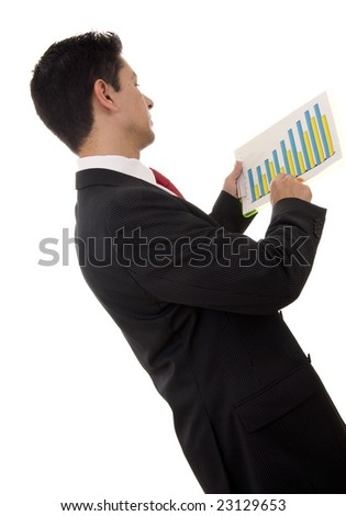 Close-up of a businessman looking to a financial report