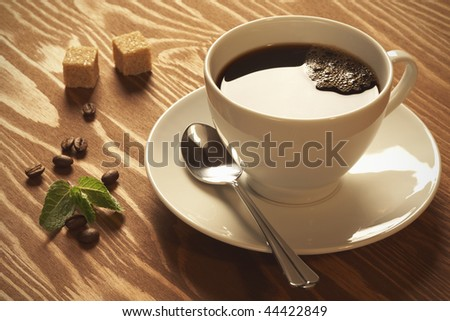 Close-up of a delicious cup of coffee - stock photo