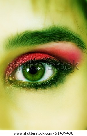 Close-up of eye - stock photo