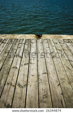 close up of  wooden deck for design - stock photo