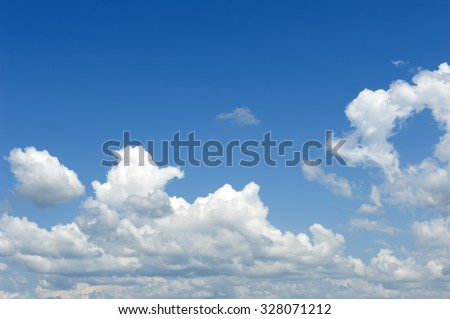 Cloud on blue sky in landscape style - stock photo