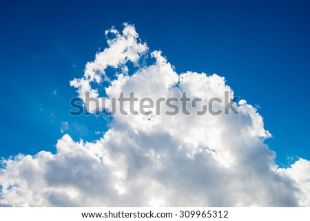 Cloud on the on blue sky