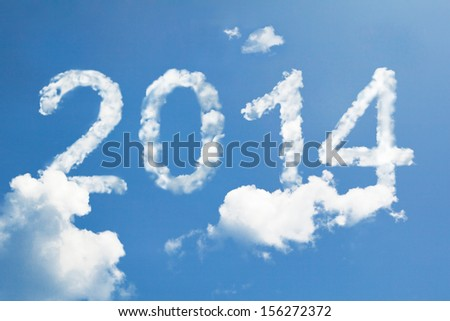 2014 clouds - stock photo