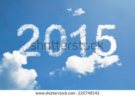2015 clouds - stock photo