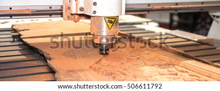 CNC milling and lathe on wood