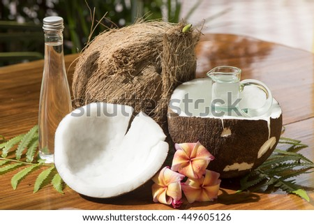 .Coconut oil, or copra oil: is an edible oil extracted from the kernel or meat of mature coconuts harvested from the coconut palm., Cosmetic ingredients, massage oils and other medicinal properties.