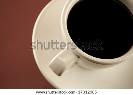 coffe cup from above - stock photo
