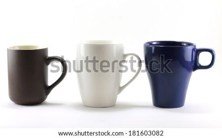 coffee mug isolated on a white background - stock photo