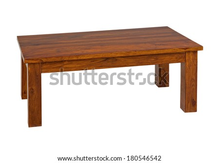 coffee table isolated on white background