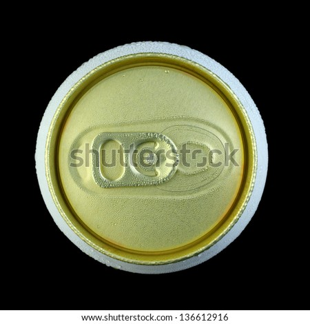 cold can close-up shot - stock photo