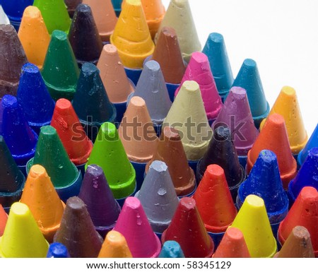 color crayons - stock photo